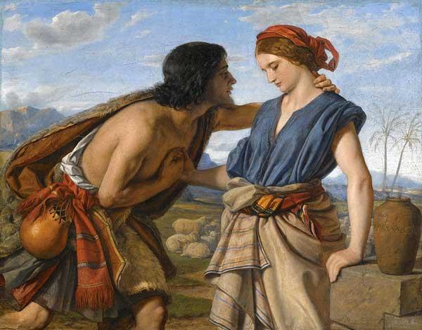 Иаков целует Рахиль