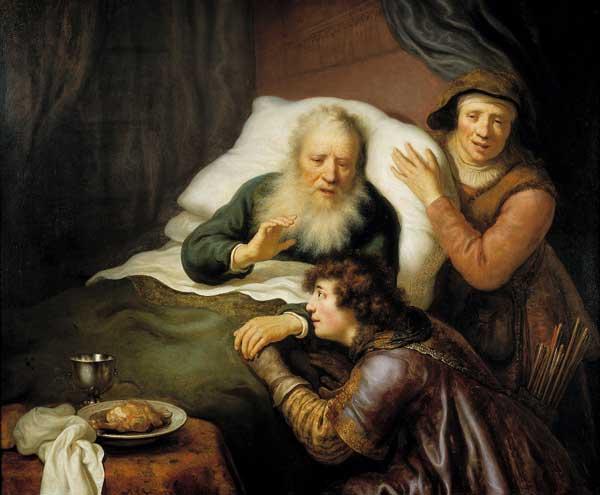 Иаков притворяется Исавом
