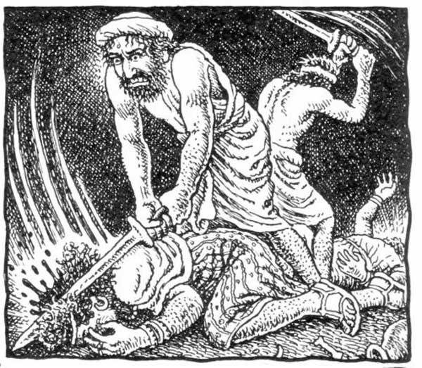 jews killing men in Sichem